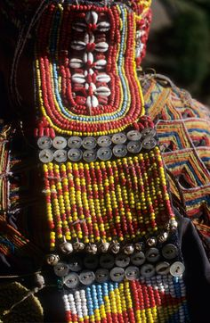 Pakistan | Kalasha woman's head-dress detail, Balanguru village, Rumbur Valley | ©Nicholas Sumner