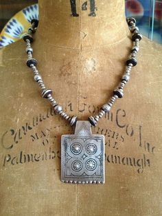 Antique Moroccan Berber Amulets+Silver Beads - Victoria Z Rivers Jewelry+Antique Moroccan Berber Amulets+Silver+Trade Beads + Coral