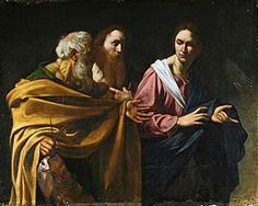 The Calling of Saints Peter and Andrew by Caravaggio.  Jesus is the young man in this.  You can't beat Caravaggio!!!