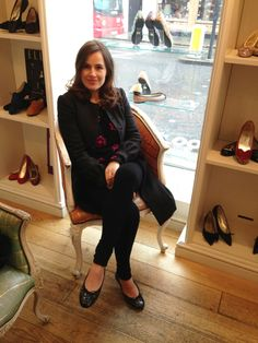Lady Sophie Windsor wearing her Lowcut Patent Croc flats in our King's Road store.