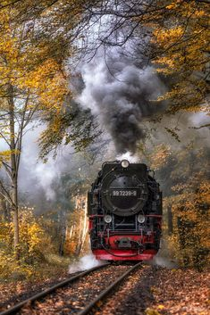 Brocken Railway, Germany - by Michael Kästner Train Art, By Train, Train Tracks, Beautiful Photos Of Nature, Beautiful Landscapes, Motor A Vapor, Dslr Background Images, Old Trains, Train Pictures