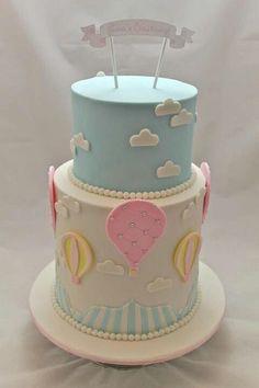 Αποτέλεσμα εικόνας για triciasdarlindesigns hot air balloon cake