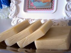 Handmade soap - lavender scented.