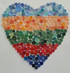My weekend button art project