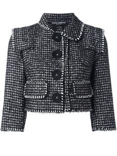 DOLCE & GABBANA tweed cropped jacket. #dolcegabbana #cloth #jacket