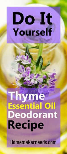 Essential Oils antibacterial, antiseptic, astringent, antioxidant and anti-inflammatory properties are great ingredients for making safe and natural deodorants. Thyme Essential Oil Uses, Natural Essential Oils, Essential Oil Blends, Deodorant Recipes, Homemade Deodorant, Natural Deodorant, Essential Oil Deodorant, Body Odor, Natural Remedies
