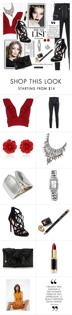 """""""Trend Turn On"""" by taste-for-life ❤ liked on Polyvore featuring Boohoo, Unravel, Bibi Marini, Kendra Scott, Vita Fede, GUESS, Jessica Simpson, Bobbi Brown Cosmetics, L'Oréal Paris and contest"""