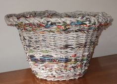 Newspaper Basket by Peggy Dembicer, via Flickr