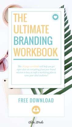 Click the image to get the 20 page editable Ultimate Branding PDF Workbook for free! It's perfect if you're a blogger, entrepreneur, small business owner or freelancer wanting to create your brand from scratch - or are re-branding. Nail down your why, brand values, brand mission, ideal audience, brand visual identity and marketing plan.