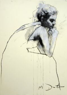 Helen Seated Mark Demsteader, contour drawing, then white gesso, then charcoal on top? Art Painting, Art Photography, Mark Demsteader, Sketches, Fine Art, Figure Painting, Illustration Art, Art, Figurative Art