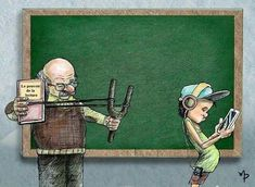 Illustrations that show the harsh reality of our world – OddMeNot Satire, I Love Books, My Books, The Happy Prince, Satirical Illustrations, I Love School, Social Art, Book Quotes, Fantasy Art