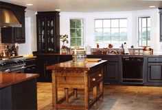 Raised Panel Cabinets with Distressed Cottage Finish