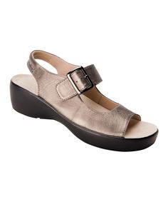 Pewter Avalon Leather Sandal
