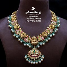 Antique Jewellery Designs, Indian Jewellery Design, Indian Jewelry, Jewelry Design, Gold Jewelry Simple, Simple Necklace, Gold Temple Jewellery, Uncut Diamond, Antique Gold