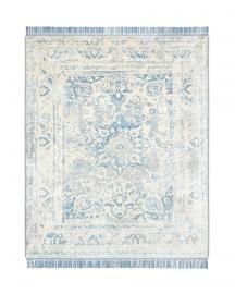 Rug Star. Supreme 01-26 No. 07 Light Blue Grey. Silk Fringes. 100% Chinese silk. 250 cm x 300 cm