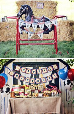 Western Cowboy Saddle Up 1st Birthday Party via Kara's Party Ideas- www.KarasPartyIdeas.com