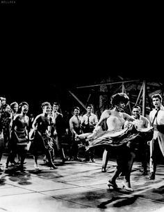 West Side Story - Rita Moreno and cast.my favorite dance scene with Rita Moreno. Musical Theatre, Movie Theater, I Movie, Dancing King, Dancing In The Rain, Shall We Dance, Lets Dance, Hollywood Actor, Classic Hollywood