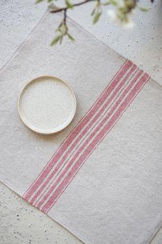 Linen placemats SET of 10 Linen Placemats, Linen Tablecloth, Linen Napkins, Linen Towels, Linen Duvet, Linen Fabric, Striped Table, Towel Set, Natural Linen