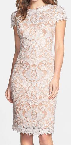 Illusion Yoke Lace Sheath Dress | sponsored by Nordstrom Rack