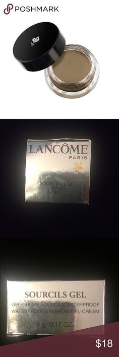 NEW in box. Lancôme Sourcils Gel -Blond Never opened; new in box. Waterproof Gel Eyebrow Gel Cream. Blond - 01. Lancome Makeup Eyebrow Filler
