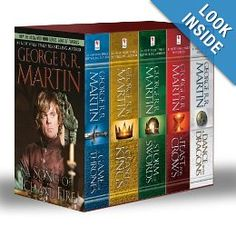 game of thrones book series.   So much better than the HBO show.