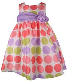 Rare Editions Girls Multi Color Polka Dot Easter Dress-Treasure ...