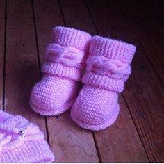 Boots style Uggs bébé tuto tricot facile