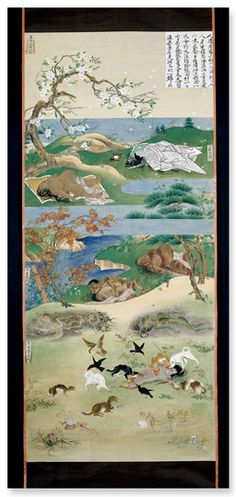 The Six Realms of Birth, 10 hanging scroll paintings Japan Edo period, 19th century AD. © Trustees of the British Museum