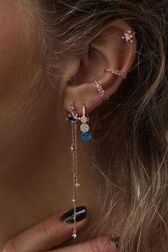 Beautiful Unique Silver Boho Ear Piercing Ideas to Inspire You # . - Beautiful Unique Silver Boho Ear Piercing Ideas to Inspire You # – – – - Ear Jewelry, Cute Jewelry, Boho Jewelry, Wedding Jewelry, Jewelery, Jewelry Accessories, Fashion Jewelry, Wedding Rings, Silver Jewelry