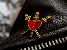 Image of Hallow - Three of Swords Enamel Pin Badge