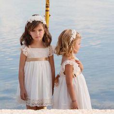 nanos-ropa - kids lace white dress
