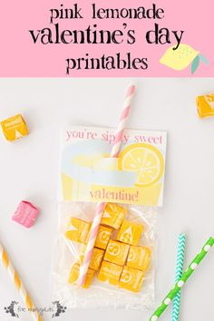Sip-ly Sweet Lemonade - Themed Valentine's Day Printables
