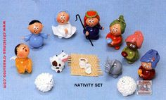 Marble Nativity Set of 12