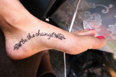 simple font foot tattoo designs Foot Tattoo Designs