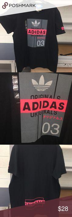 261ae3c0fab49 Adidas Originals Men XL Shirt Black Grey Infrared ITEM  Adidas Originals  Men s T Shirt (