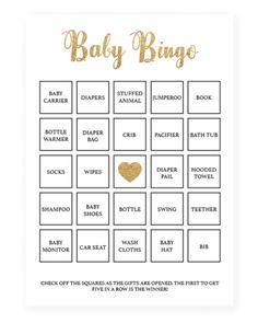 49 Printable Bingo Card Templates Baby Shower Pinterest Baby