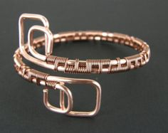 Funky Copper Bracelet Wire Wrapped Copper Bracelet par BonzerBeads