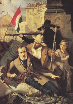 Baldassarre Verazzi, Combattimenti a Palazzo Litta, Milano, Museo del Risorgimento  BALDASSARRE VERAZZI (Caprezzo, 6 gennaio 1819 – Lesa, 18 gennaio 1886)   #TuscanyAgriturismoGiratola