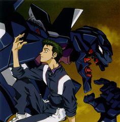 Neon Genesis Evangelion: Touji and EVA Unit 03 Neon Genesis Evangelion, The End Of Evangelion, Old Anime, Manga Anime, Anime Art, Rei Ayanami, Vinland Saga, Cyberpunk, Webtoon