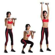 squat and overhead press