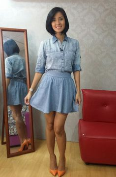 [Uber OOTD:May26-2014] top from FH, skirt from Penshoppe