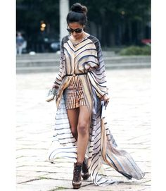 She really knows how to make an entrance with that ensemble.   - MarieClaire.com