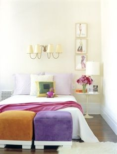 Love the antique sconce above the bed. Delphine Krakoff/Pamplemousse Design.