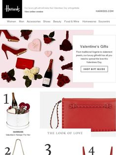 Valentine's Gifts They'll ♥ - Harrods Engagement Emails, Valentine Gifts, Valentines Day, Harrods, Coupon Codes, Gift Guide, Jewels, Luxury