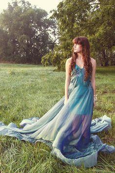 Anastasia Chatzka Sheer Green Gown