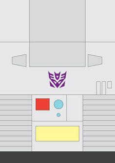 """megatron transformers minimalist"" by adam james. Gi Joe, Dragon Ball Z, Adam James, Transformers Megatron, Monster Art, Cool Cartoons, Minimalist Art, Shirt Ideas, Silhouettes"