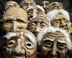 giant puppet heads made over clay armatures Mascara Papel Mache, Puppetry Arts, Sculptures, Lion Sculpture, Puppet Making, Art Thou, Voodoo Dolls, Face Characters, Masks Art