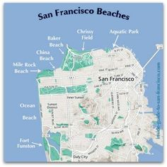 map of san francisco beaches