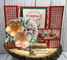 Fun Fold Painted Seasons – Just Sponge It! Fancy Fold Cards, Folded Cards, Bridge Card, Glue Dots, Paper Pumpkin, Love Cards, Projects To Try, Group Projects, Four Seasons