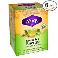 Green Tea Energy - 16 bags by Yogi Teas Best Green Tea, Best Tea, Green Tea Supplements, Kombucha Tea, Organic Green Tea, Get Healthy, Herbalism, Natural Remedies